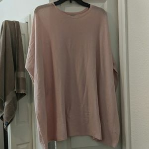 Soft pink flowy tunic perfect for any season!